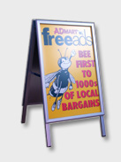 Sample of ASF A1 size pavement signs